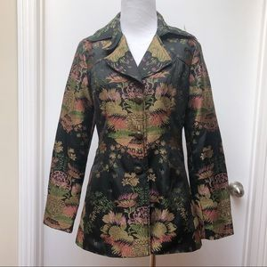 CAbi Jacquard Brocade Asian Blazer Jacket NWT